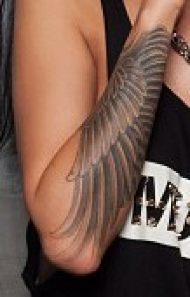 Wing tattoo designs for arm driverlayer search engine for Wing forearm tattoo
