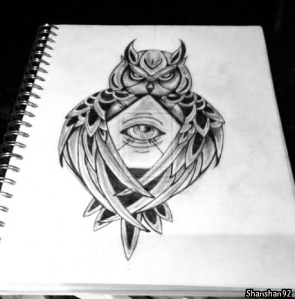 illuminati owl drawing - photo #29
