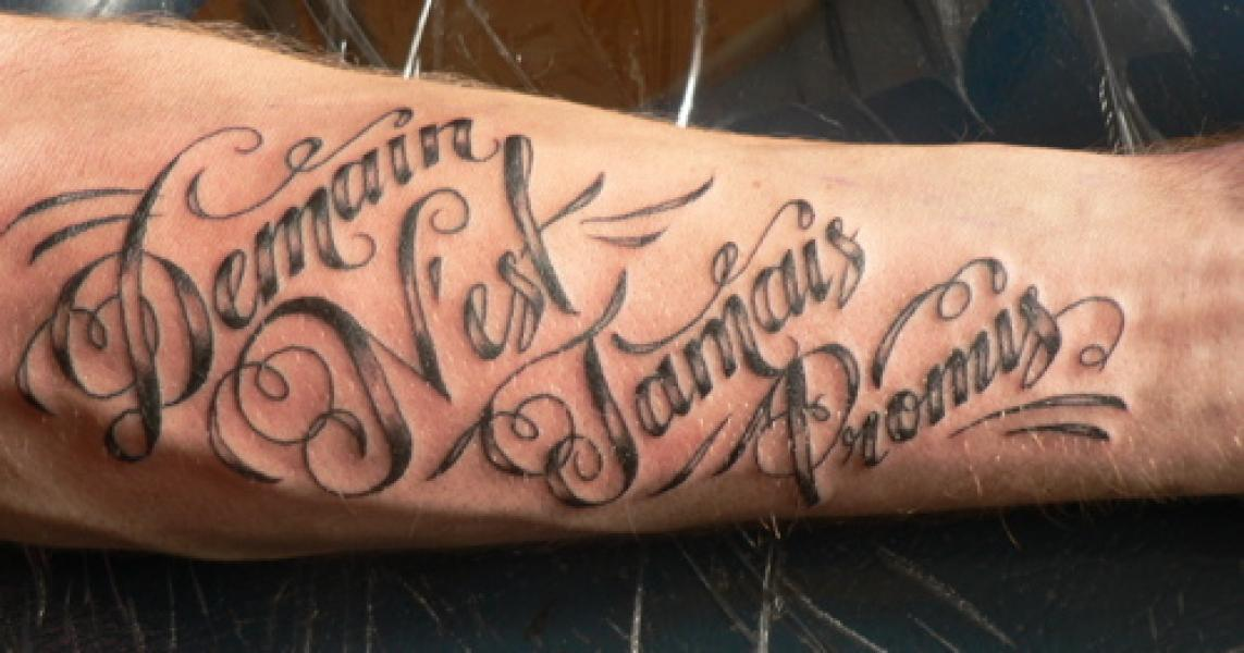tattoo writing samples