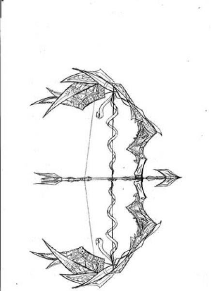 designs for dragon and phoenix bow arrow